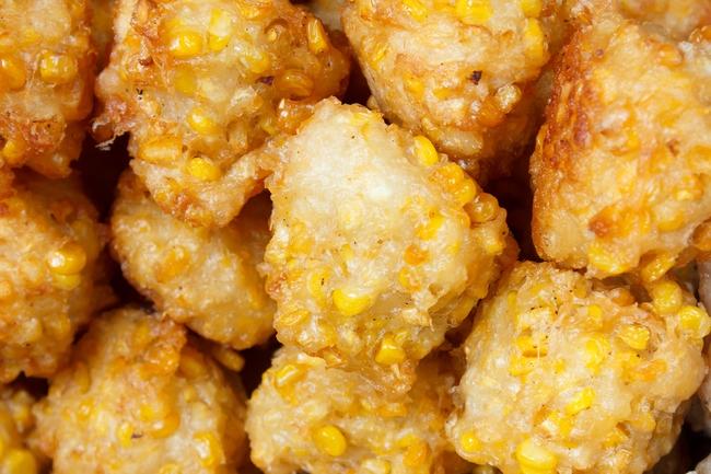 Thai vegan snacks: Fried corn balls