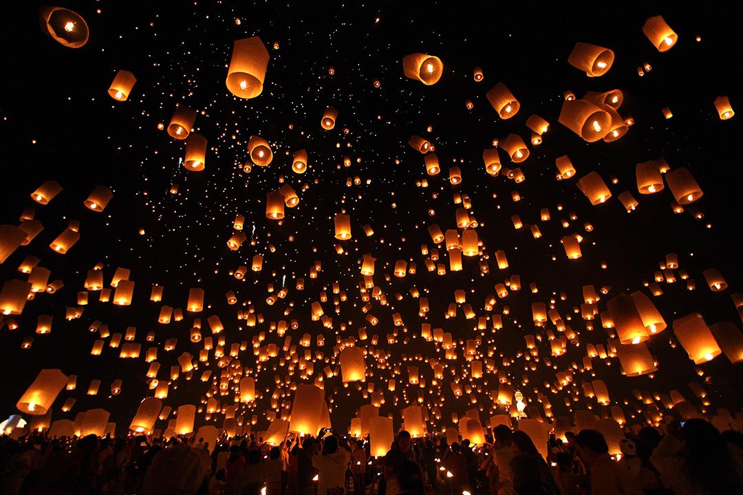 loy krathong, loi krathong, festival, thailand, thai, culture, region, province, yi peng, floating lantern