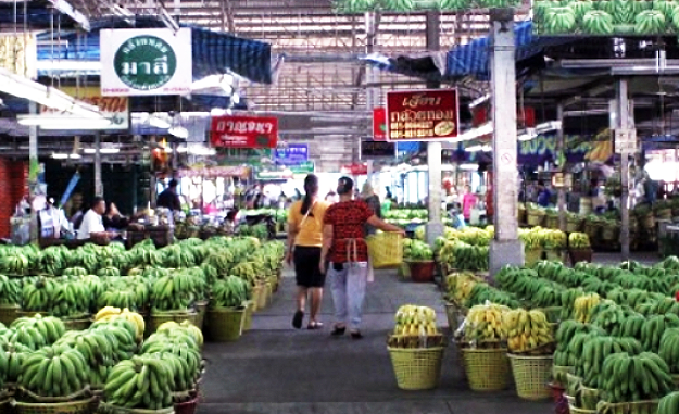 things to do in bangkok, bangkok, fresh market, cooking, banana