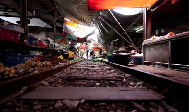 things to do in bangkok, bangkok, umbrella market, market, local