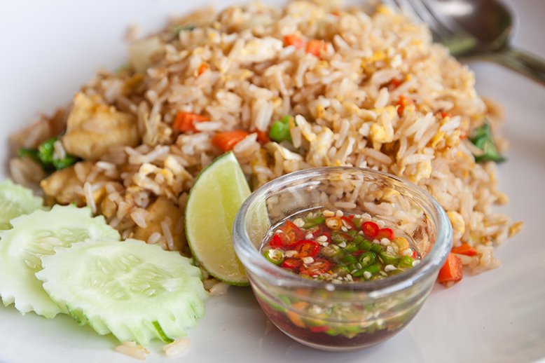 cooked to order, thai dishes, thai food, rice dish