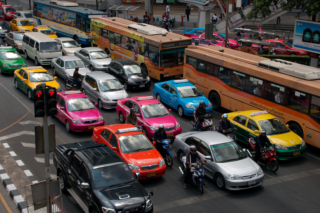 Thai taxi, taxi, bangkok, thailand, traffic, Thai taxis