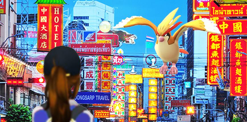 pokemon go in bangkok, pokemon go, bangkok, catching pokemon, pokemon in thailand