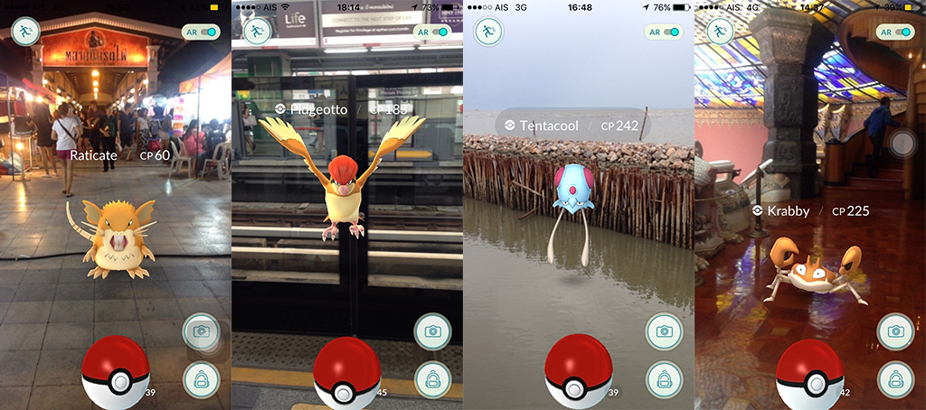 pokemon go in bangkok, pokemon go, bangkok, catching pokemon, pokemon in thailand, pokeball