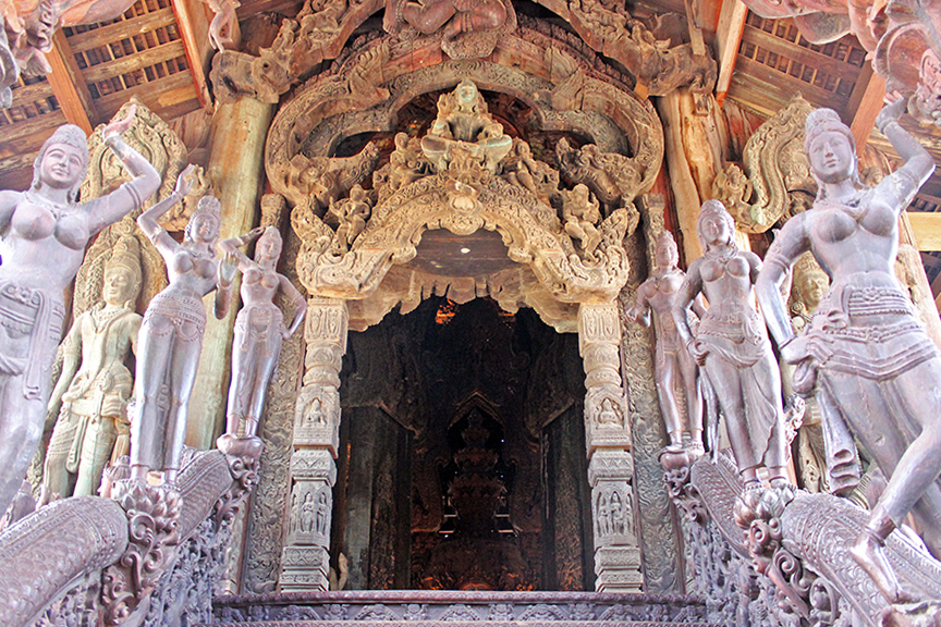 historical sites in Thailand, pattaya, chonburi, sanctuary of truth