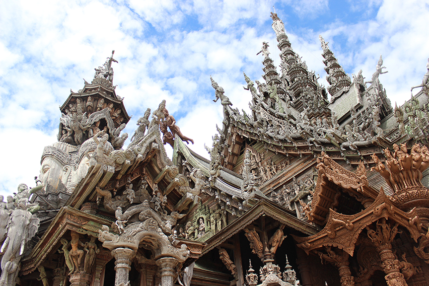 historical sites in Thailand, pattaya, chonburi, sanctuary of truth