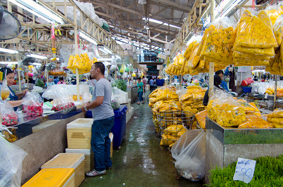 markets in Bangkok, bangkok, thailand, community, pak khlong talat, flower market