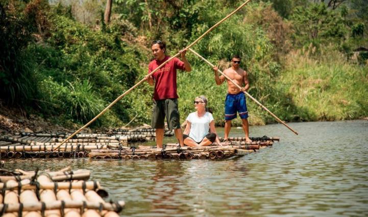 things to do, things to do in chiang mai, chiang mai, rafting, bamboo raft, lisu lodge