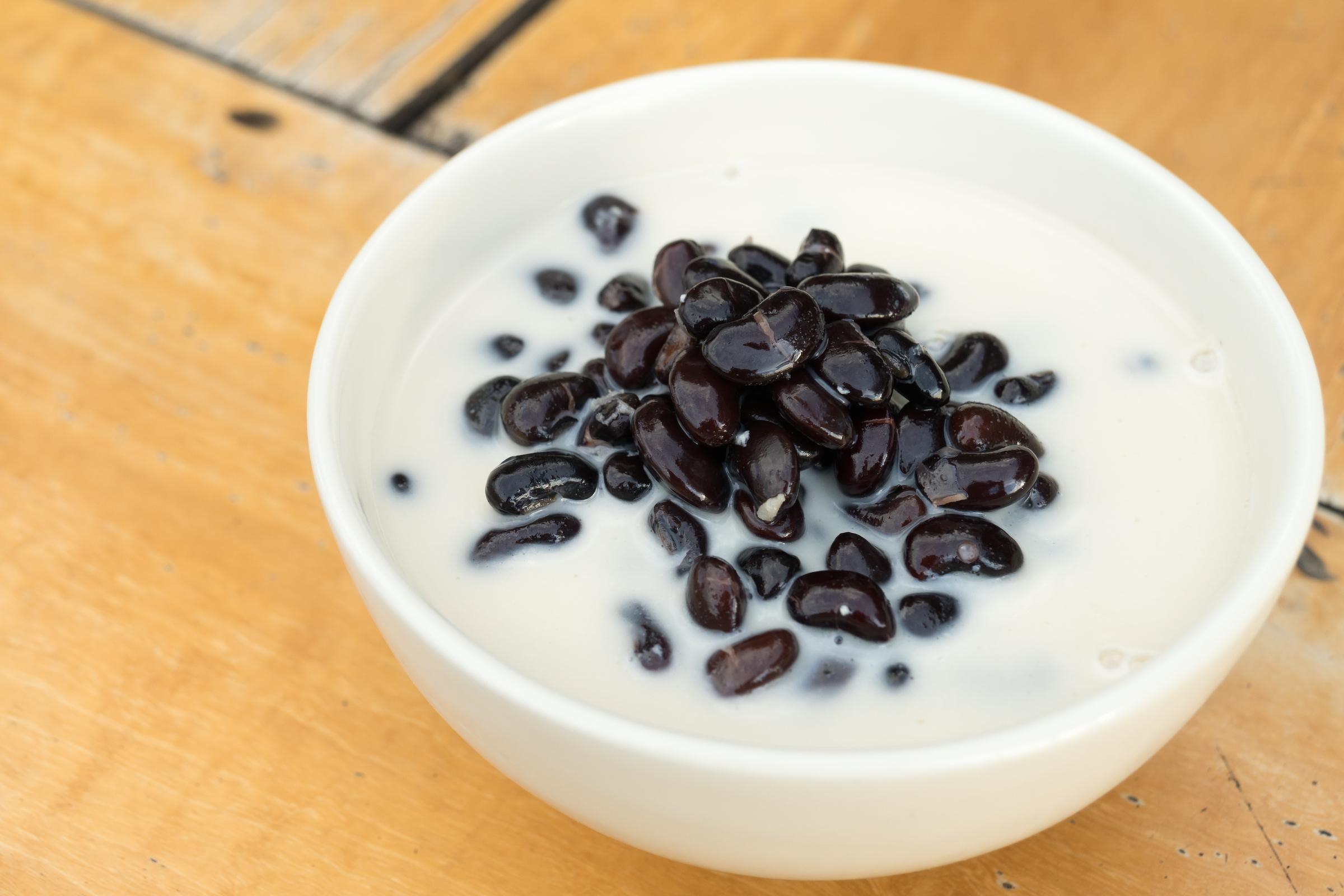 Black bean sticky rice