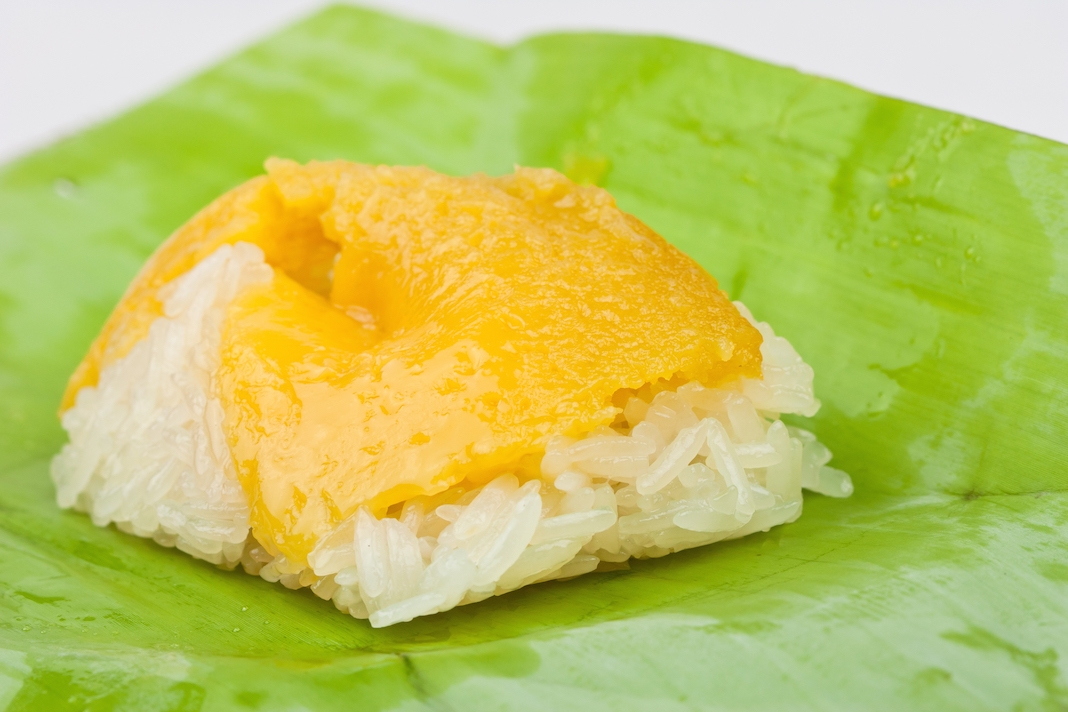 custard sticky rice