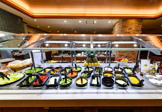 Sizzler serves up way more than just great cuts of meat. Their Craft Salad Bar has fresh, locally sourced produce and healthy options like quinoa and soup. Pair up with their famous cheese bread or .
