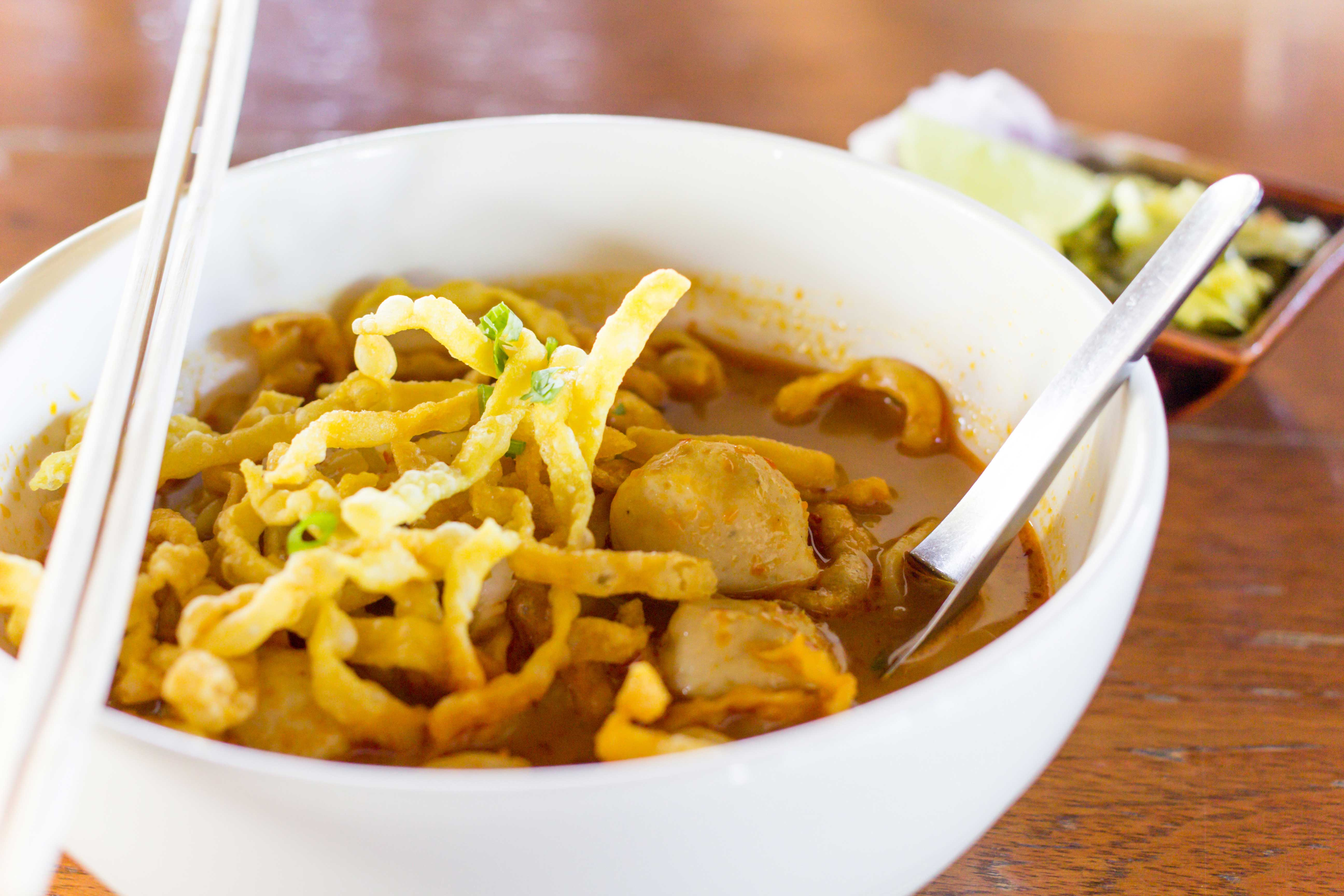 Delicious Khao Soi, northern Thai cuisine at its best!