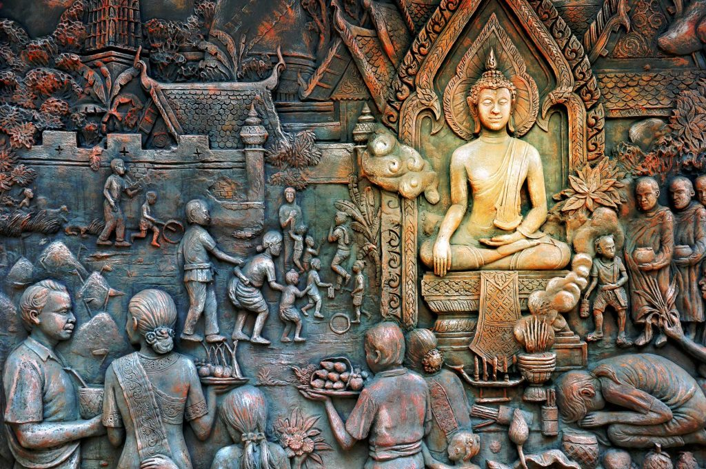 Thai etiquette stems from Buddhist principles.