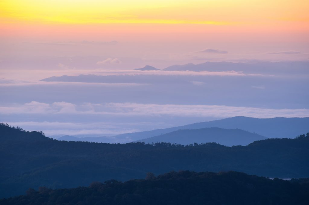 Sea of mist seen from Doi Inthanon National Park