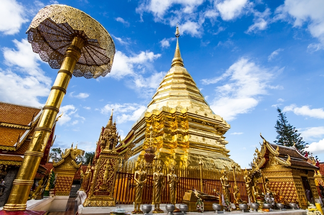 Temples on Thai coins: Wat Phra That Doi Suthep in Chiang Mai