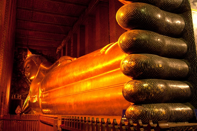 Where to go in Bangkok: the reclining Buddha at Wat Pho