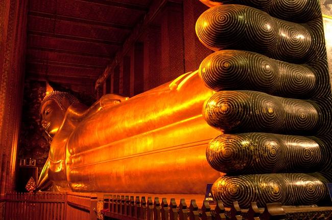 Where to go in Bangkok: the reclining Buddha at Wat Pho