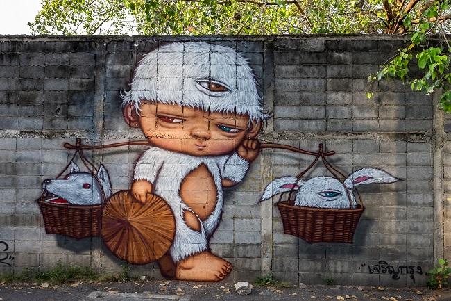 Where to go in Bangkok: Charoen Krung Street Art