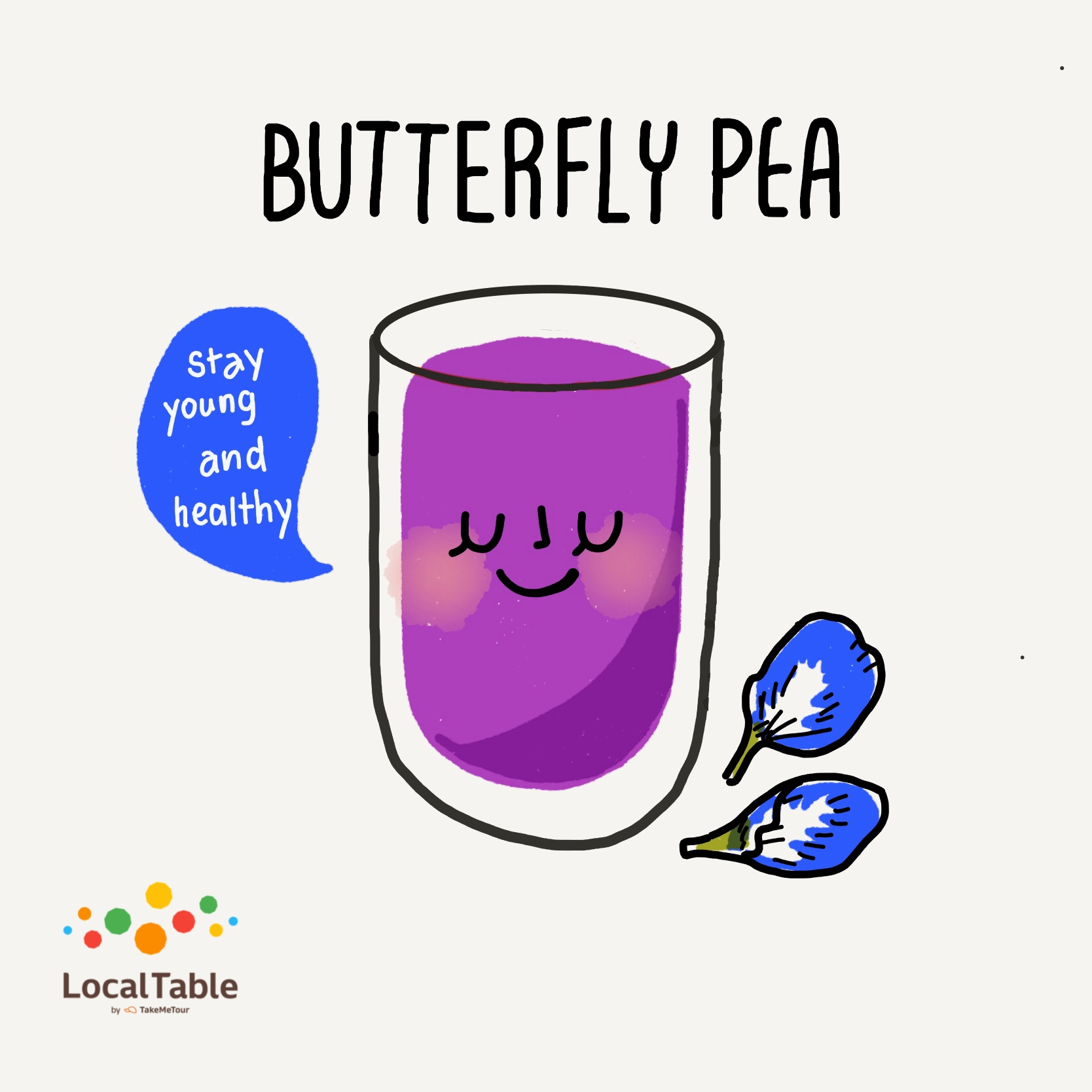 Thai Herbal Drinks: Butterfly Pea