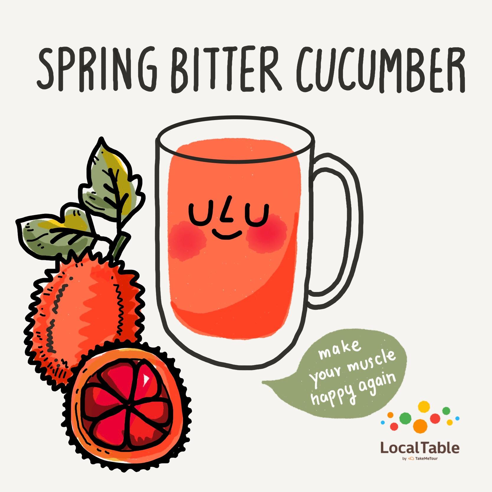 Thai Herbal Drinks: Gac, Spring Bitter Cucumber, Baby Jackfruit
