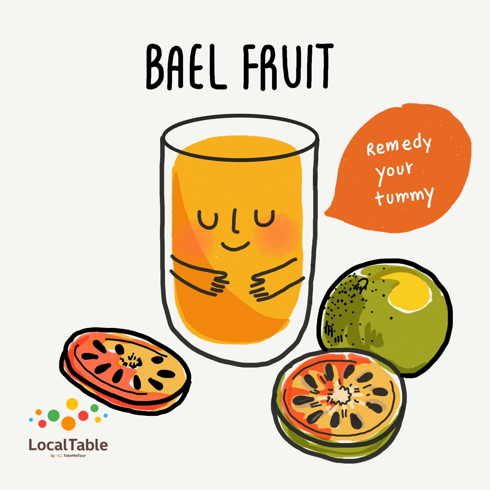 Thai Herbal Drinks: Bael Fruit