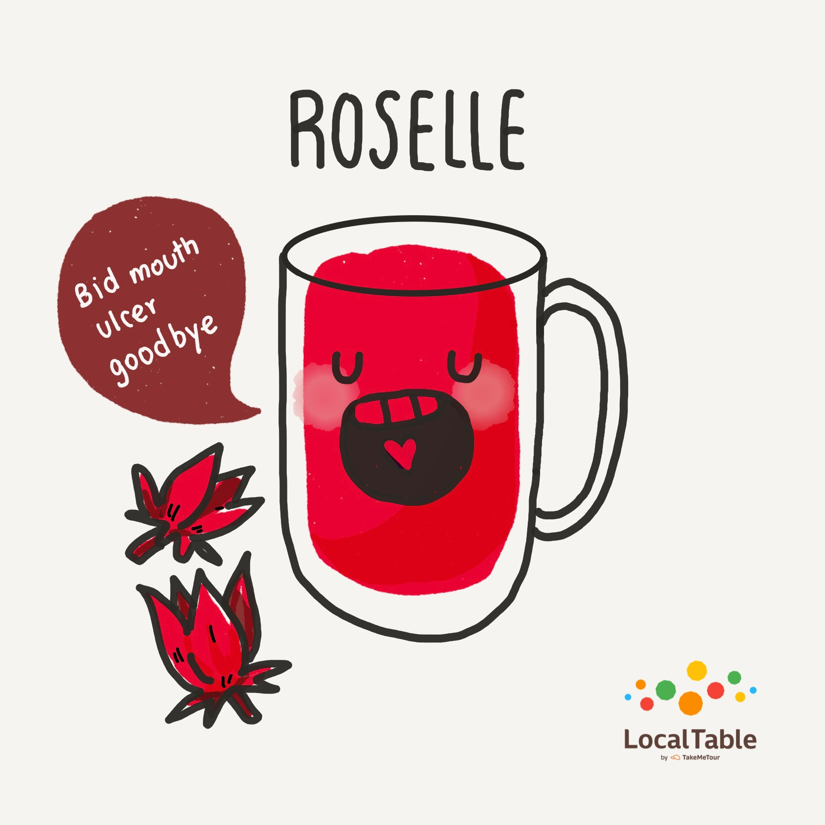 Thai Herbal Drinks: Roselle