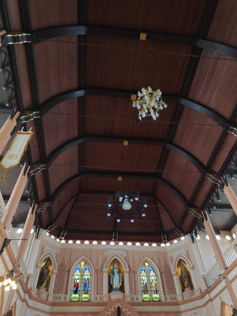 Boat-shaped roof, symbol of Vietnamese community journey to Chanthaburi, Church of Immaculate Conception