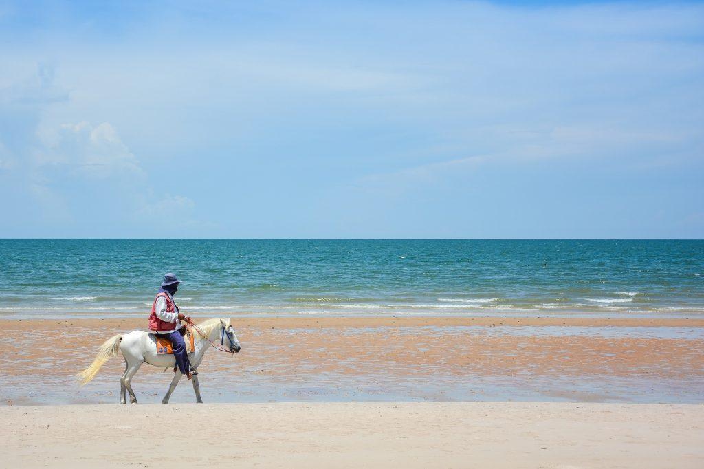 Hua Hin Beach, Horse, Sea, Sun, Beach, Best for Thailand in August