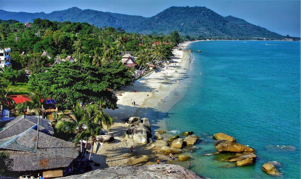 Lamai Beach, Koh Samui, Sun, Beach, Good Weather, Blue Water, Thailand in August