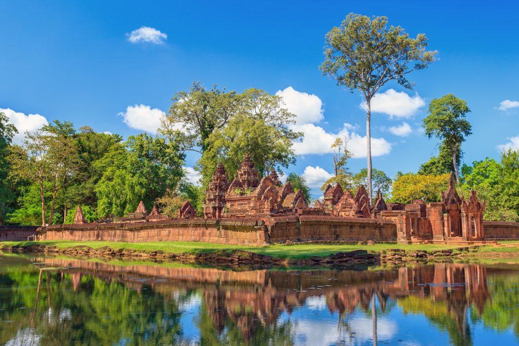 Banteay Srei, Citadel of Women, red sandstones, Siem Reap, Cambodia