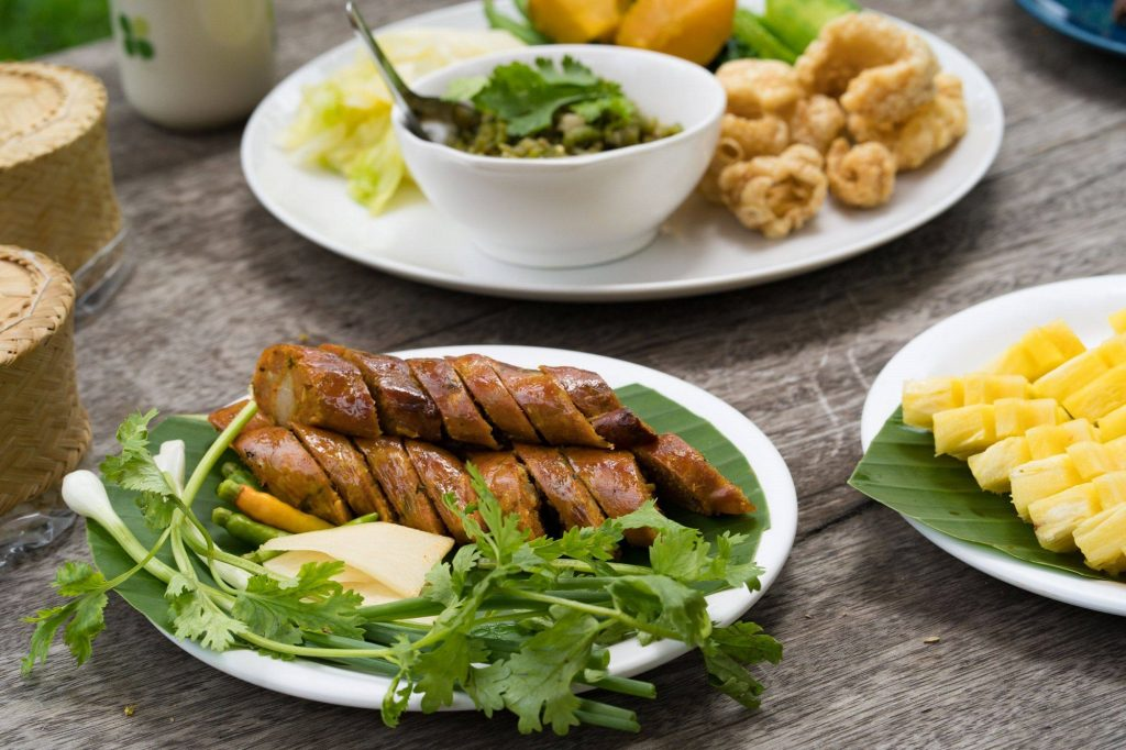 Sai Ua, Northern Thai Sausage, Food in Chiang Rai, local food