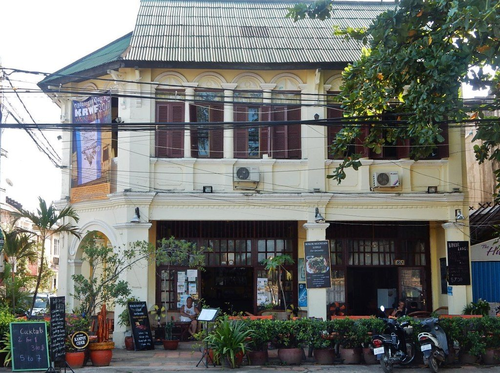 French colonial buildings Kampot