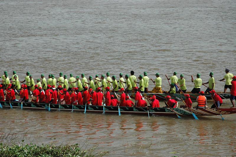 Boat race, Water festival, Cambodia in November